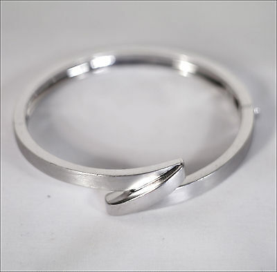 Pierre Cardin STERLING SILVER Hinged Bracelet Bangle Designer 925 40g Stg