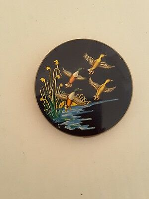 stratton powder compact vintage birds in flight
