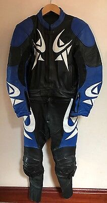 Frank Thomas 2 Piece Leather Racing Motorcycle Suit Size 42, Euro 52