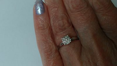 9ct white gold engagement ring size i rrp over £300