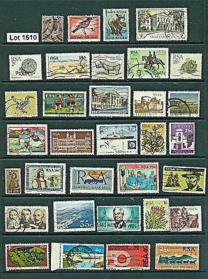 Lot  1510..SOUTH AFRICA..selection of 33 used stamps from various years