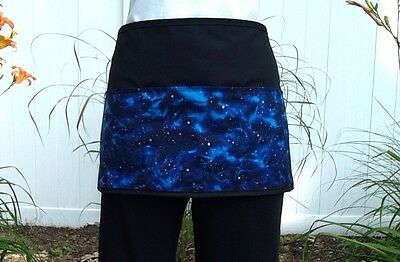 Black Galaxy Space server waitress waist apron 3 pocket restaurant Classyaprons