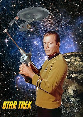 Star Trek Original Series Poster Genuine Hubble Background KIRK #1