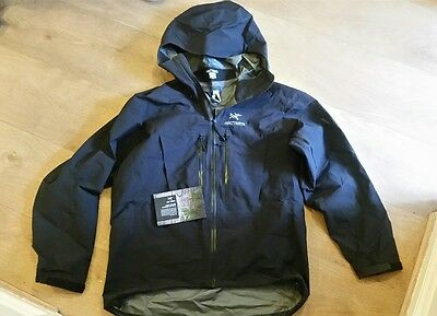 Genuine Arcteryx Alpha SV goretex technical jacket Black XL LEAF top quality!