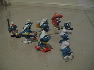 Collection of smurf, smurfs 	Lot A