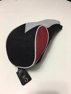 Fairway Wood Cover Driver Golf Club Red Black Silver New 5