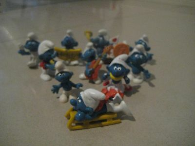 Collection of smurf, smurfs  Lot C