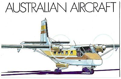 1980 Australian Aircraft Set Of 4 Stamps Stamp Pack, Mint Condition, Unopened