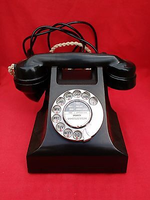 Vintage Phone, Gpo 332L Black Bakelite Telephone. Converted, Plug In & Call