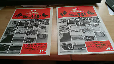 Brisca F1 Stock Car Official (March & September) Programme 1981