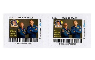 Kosmos  Space 2x  Biberpost 0,48€  YEAR IN SPACE  2015