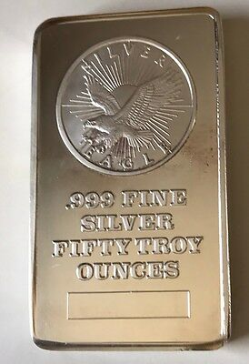 50 oz SUNSHINE MINT .999 SILVER BAR RARE BULLION 1.42 Kg Kilo