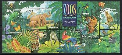 1994 Zoos : Endangered Species Mini Sheet Mint Never Hinged