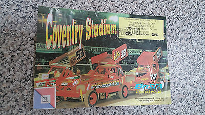 Brisca F1 Stock Car Coventry Programme October 1994