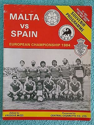 1983 - MALTA v SPAIN PROGRAMME - EURO 84 QUALIFIER