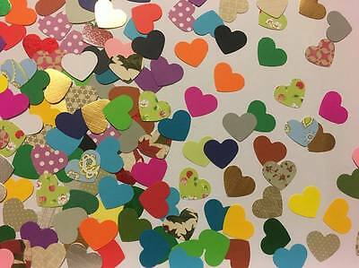 x100 Hearts HEART PAPER PUNCH/ PUNCHIES - Craft/scrapbooking/ love <3