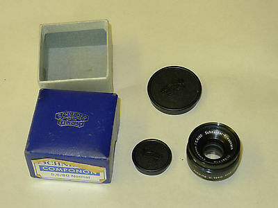 VINTAGE SCHNEIDER Kreuznach 80mm COMPONON f5.6 LENS FILM ENLARGER 1:5.6 BOXED