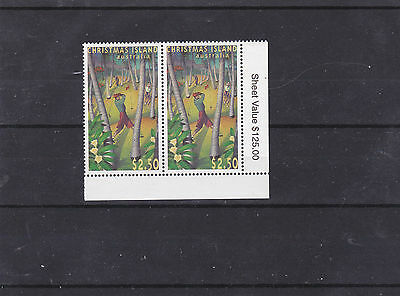 Christmas Island 1995 Golf.  $2.50 corner pair fine used with sheet value.