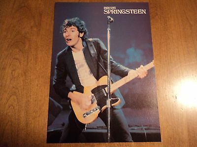 1980s Bruce Springsteen Rod Stewart 2 sided Magazine Pin Up Poster 8 X11 Rock