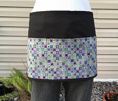 Black Geometric server waitress waist  apron 3 pocket restaurant Classyaprons