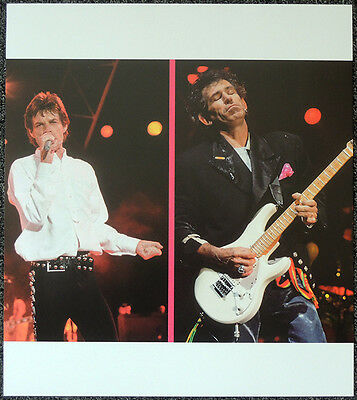 The Rolling Stones Poster Page 1989 Keith Richards & Mick Jagger . Y85
