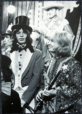 The Rolling Stones Poster Page 1968 Mick Jagger & Brian Jones