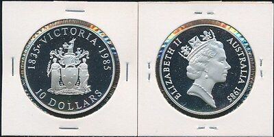 Australia 1985 $10 Silver Proof Victoria in a Coin Holder Only