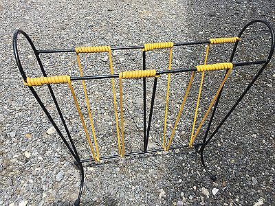 Vintage 1960's Metal Wire Magazine Rack Atomic Mid Century Retro