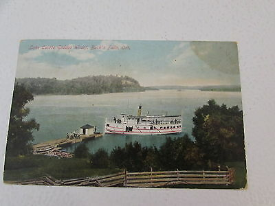 Vintage Burks Falls Ontario Lake Cecebe Post Card Canada 1912 Post Mark