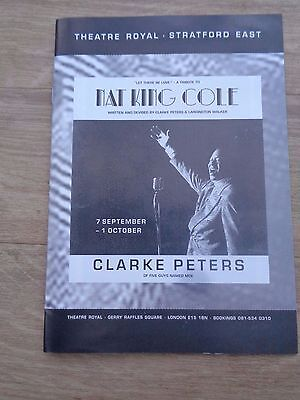 Let There Be Love - Nat King Cole Theatre Programme - Clarke Peters