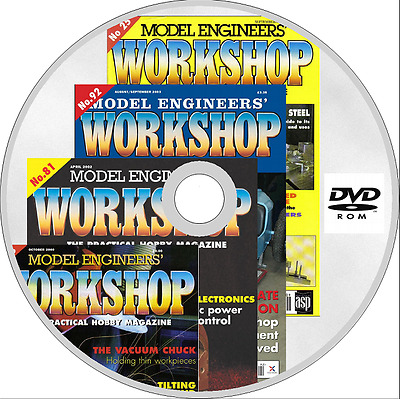 MODEL ENGINEERS WORKSHOP MAGAZINE issues 1-163 PDF format on 2 x DVD ROM Plans