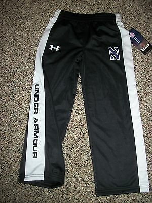 UNDER ARMOUR New NWT Boys Youth Toddler Pants Black White Northwestern 4 5 6 7