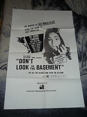 Don't Look In The Basement Original 1 Sheet Poster Horror 1973 Aip Folded 27X41