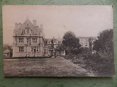 Old Postcard - St Boniface College , Warminster , Wiltshire