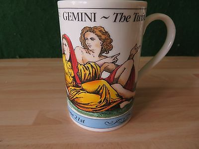 DUNOON   mug ZODIAC SERIES GEMIMI, stoneware  made in SCOTLAND  IN V USED GC