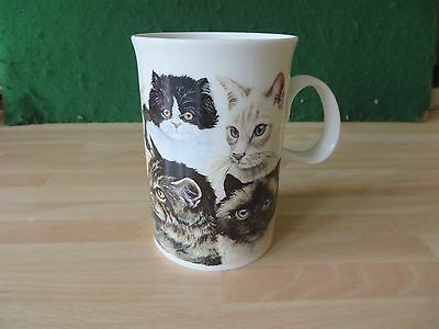 DUNOON  CATS mug designed by DEBORAH POPE, stoneware  made in SCOTLAND