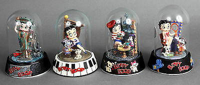 Set of 4 Betty Boop Limited Edition Figures with Glass Domes