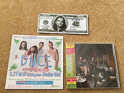 DNCE CD + Concert Flyer + concert Item