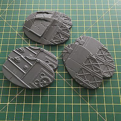 Warhammer 40k - Sector Imperialis 6x 90mm Oval Bases
