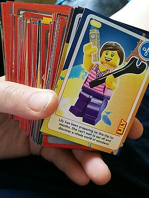 complete set sainsburys lego create the world cards