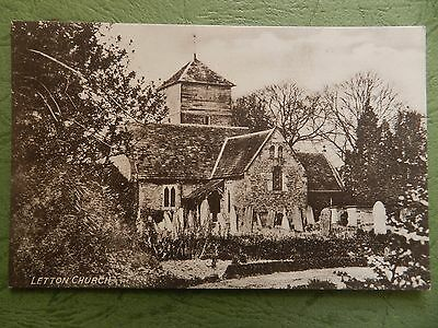 Old Postcard - Letton Church , Herefordshire