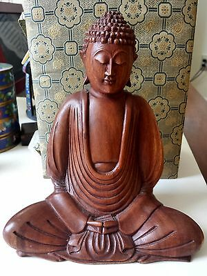 A wood carved buddha