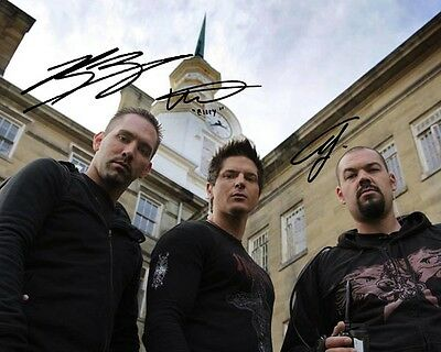 Ghost Adventures Group Cast Signed 8X10 Photo Rp Zak Bagans Aaron Goodwin Groff