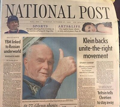 National Post, Newspaper First Issue, October 27 1998, New, Collector, CANADA
