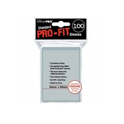 100 Bustine Protettive Trasparenti Pro-Fit Ultra Pro Standard Magic Pokemon