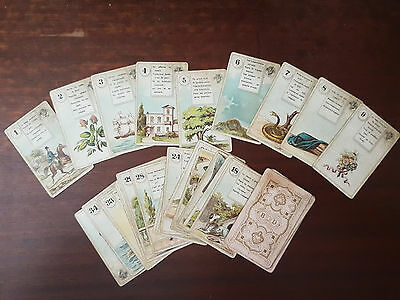 """Antique Lenormand """"gypsy"""" oracle cards c.1890 Bernard Dondorf"""