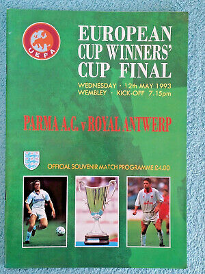 1993 - CUP WINNERS CUP FINAL PROGRAMME - PARMA v ROYAL ANTWERP