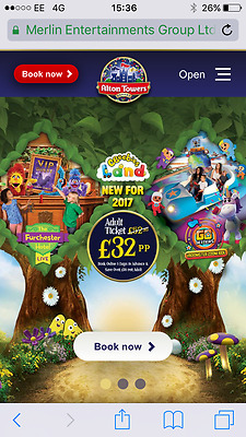 2 x Alton Towers tickets Wednesday 12th July
