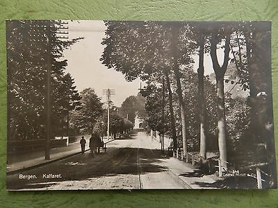 Old Real Photo Postcard - Bergen , Norway - Kalfaret
