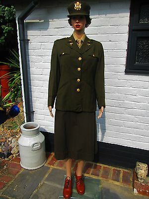 Original WW2 US Army Nursing Corp ANC Tropical Worsted Uniform Modern UK Size 12